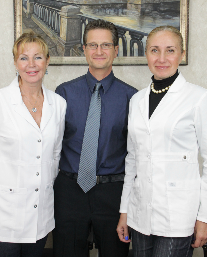 Dr riskevitch and aesthetic staff